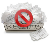 Be green and eliminate paper receipts