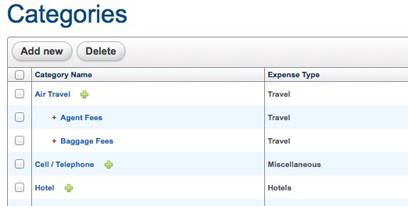 Custom Expense Categories
